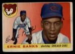 1955 Topps #28  Ernie Banks  Front Thumbnail