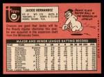 1969 Topps #258  Jackie Hernandez  Back Thumbnail