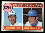 1969 Topps #524  Expos Rookies    -  Jose Laboy / Floyd Wicker Front Thumbnail