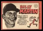 1969 Topps #547   Billy Martin Back Thumbnail
