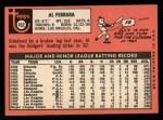 1969 Topps #452 ^YN^ Al Ferrara   Back Thumbnail