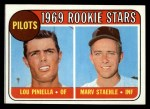 1969 Topps #394  Pilots Rookies  -  Lou Piniella / Marv Staehle Front Thumbnail