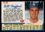 1962 Post Cereal #13  Bill Stafford   Front Thumbnail