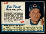 1962 Post Cereal #43  Jim Perry   Front Thumbnail