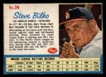 1962 Post Cereal #74   Steve Bilko  Front Thumbnail