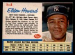 1962 Post Cereal #8   Elston Howard  Front Thumbnail