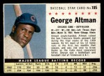 1961 Post Cereal #195 BOX  George Altman  Front Thumbnail