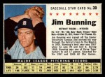1961 Post Cereal #39 BOX Jim Bunning   Front Thumbnail
