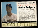 1961 Post Cereal #153 A  Andre Rodgers Front Thumbnail