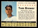 1961 Post Cereal #50 COM  Tom Brewer  Front Thumbnail