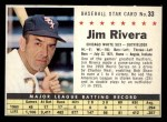 1961 Post Cereal #33 COM Jim Rivera   Front Thumbnail