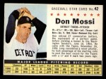 1961 Post Cereal #42 COM Don Mossi   Front Thumbnail