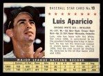 1961 Post Cereal #19 COM Luis Aparicio   Front Thumbnail
