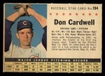 1961 Post Cereal #194 COM  Don Cardwell  Front Thumbnail