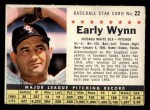 1961 Post Cereal #22 COM  Early Wynn  Front Thumbnail