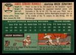 1954 Topps #6   Pete Runnels Back Thumbnail