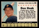 1961 Post Cereal #130 BOX  Don Hoak  Front Thumbnail