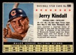 1961 Post Cereal #199 BOX  Jerry Kindall  Front Thumbnail