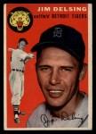 1954 Topps #111  Jim Delsing  Front Thumbnail