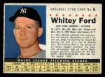 1961 Post Cereal #6 COM  Whitey Ford  Front Thumbnail