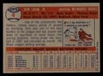 1957 Topps #4   Johnny Logan Back Thumbnail