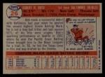 1957 Topps #26   Bob Boyd Back Thumbnail
