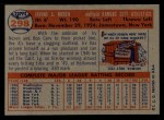 1957 Topps #298   Irv Noren Back Thumbnail