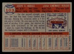 1957 Topps #103   Joe Nuxhall Back Thumbnail