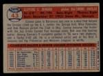 1957 Topps #43   Connie Johnson Back Thumbnail