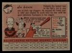 1958 Topps #15   Jim Lemon Back Thumbnail