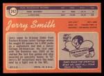1970 Topps #242   Jerry Smith Back Thumbnail