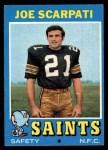 1971 Topps #173   Joe Scarpati Front Thumbnail