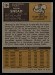 1971 Topps #184   Norm Snead Back Thumbnail
