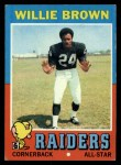 1971 Topps #207  Willie Brown  Front Thumbnail