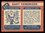 1968 Topps #119  Gary Veneruzzo  Back Thumbnail