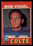 1971 Topps #199   Bob Vogel Front Thumbnail