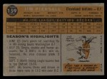 1960 Topps #159   Jimmy Piersall Back Thumbnail