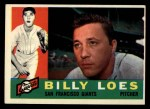 1960 Topps #181   Billy Loes Front Thumbnail