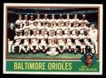 1976 Topps #73  Orioles Team Checklist  -  Earl Weaver Front Thumbnail