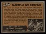 1962 Bubbles Inc Mars Attacks #34   Terror in the Railroad  Back Thumbnail