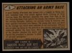 1962 Bubbles Inc Mars Attacks #3   Attacking an Army Base Back Thumbnail