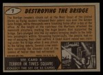 1962 Bubbles Inc Mars Attacks #7   Destroying the Bridge  Back Thumbnail