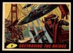 1962 Bubbles Inc Mars Attacks #7   Destroying the Bridge  Front Thumbnail