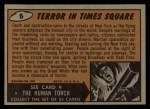 1962 Bubbles Inc Mars Attacks #8   Terror in Times Square  Back Thumbnail