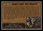 1962 Bubbles Inc Mars Attacks #17   Beast and the Beauty  Back Thumbnail
