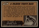 1962 Bubbles Inc Mars Attacks #18   Soldier Fights Back  Back Thumbnail