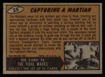 1962 Bubbles Inc Mars Attacks #25   Capturing Martian  Back Thumbnail