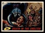 1962 Bubbles Inc Mars Attacks #29   Death in the Shelter Front Thumbnail