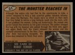 1962 Bubbles Inc Mars Attacks #31   The Monster Reaches In  Back Thumbnail