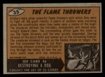 1962 Bubbles Inc Mars Attacks #35   The Flame Throwers  Back Thumbnail